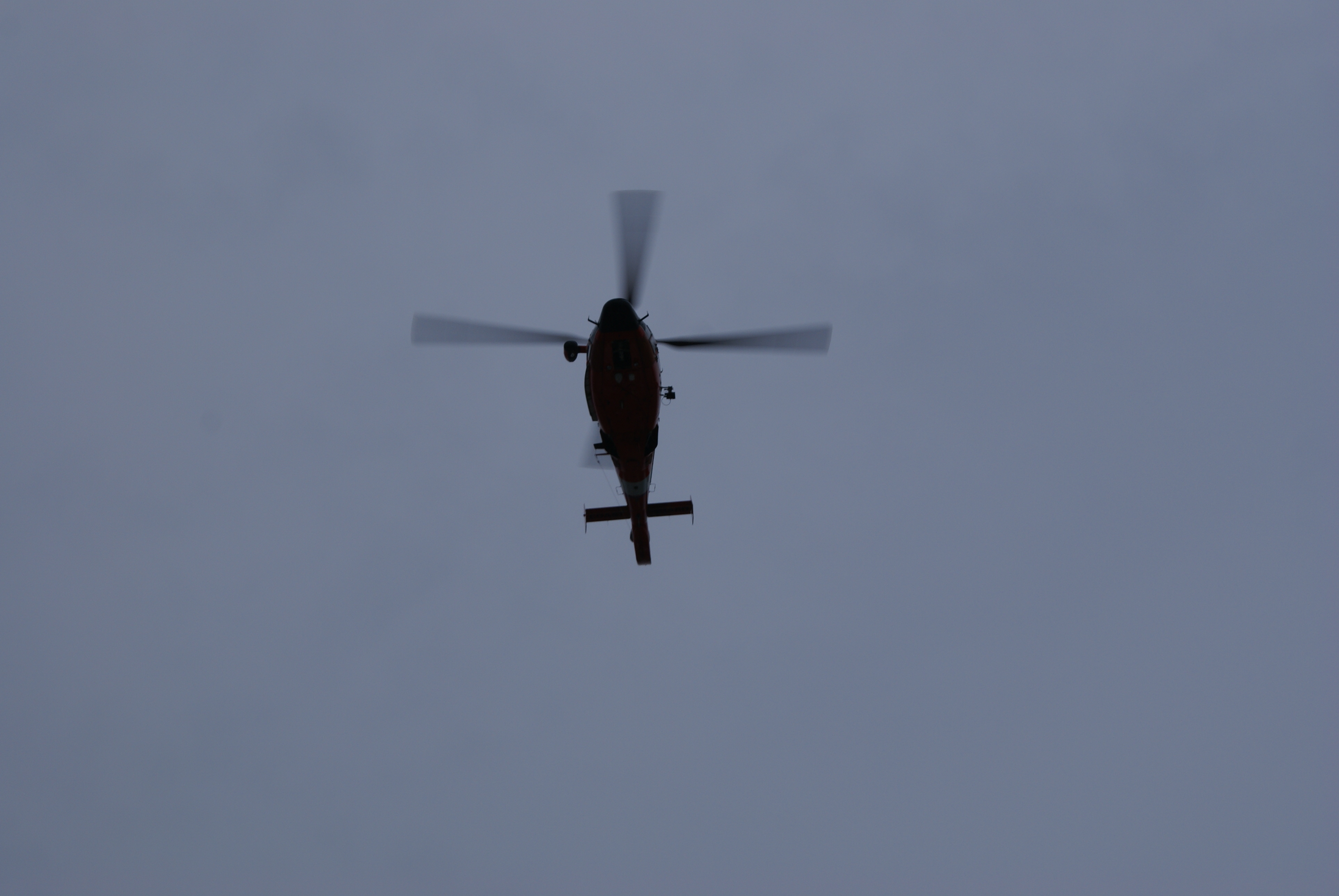 Helicopter Flying Over